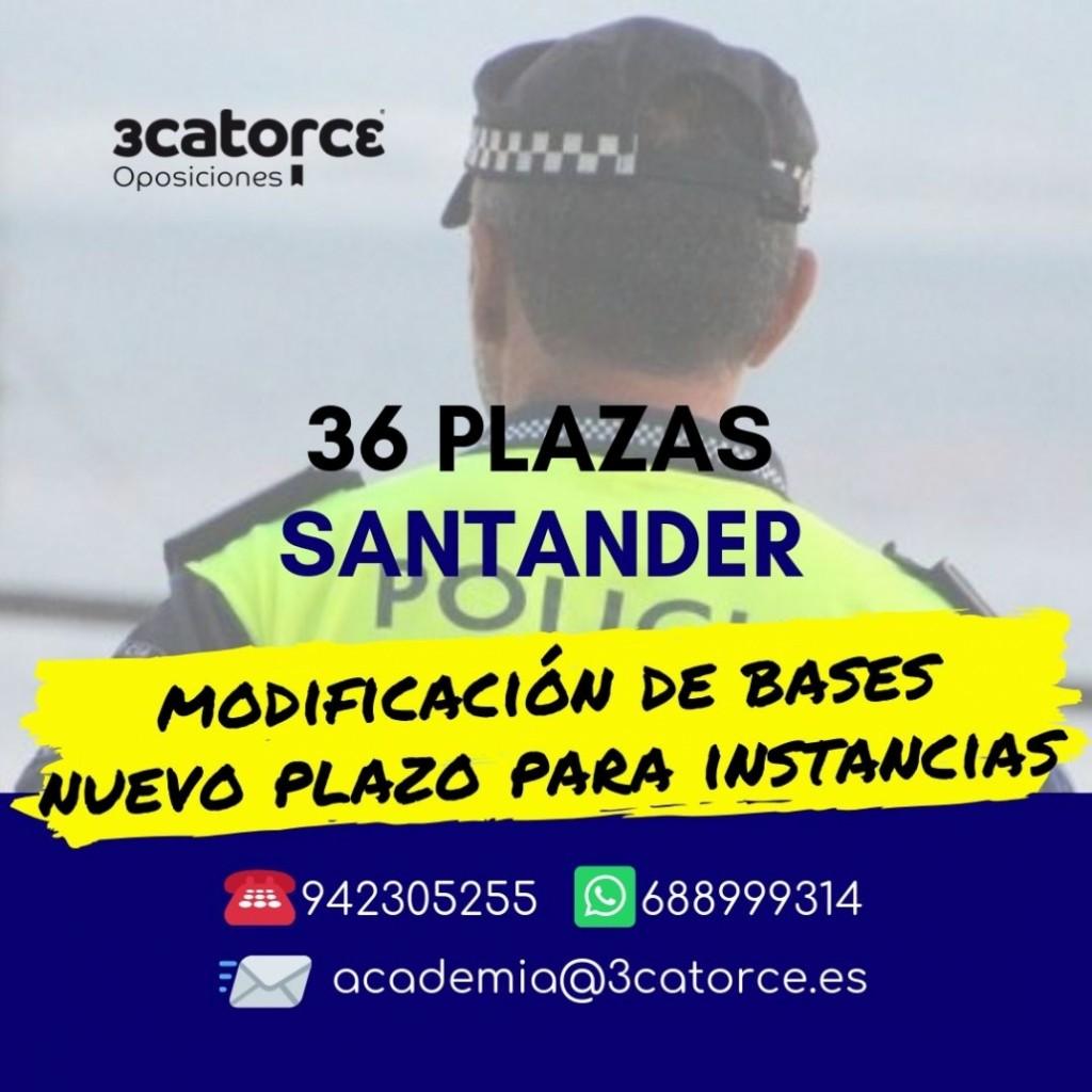 Convocatoria-Oposiciones-Policia-Local-Santander-2019 Nueva apertura de instancias Convocatoria Oposiciones Policia Local Santander 2019