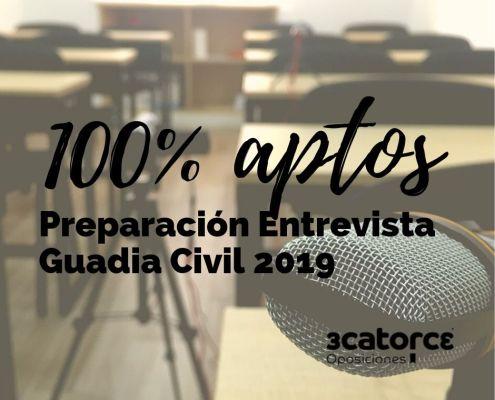 100% aptos preparacion entrevista Guardia Civil 2019