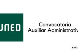Convocatoria-auxiliar-administrativo-uned-2019 Test auxiliar administrativo servicio cantabro de salud