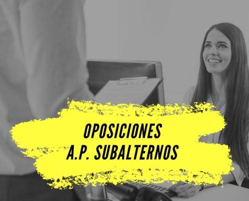 oposiciones Subalterno Cantabria 2019 2020