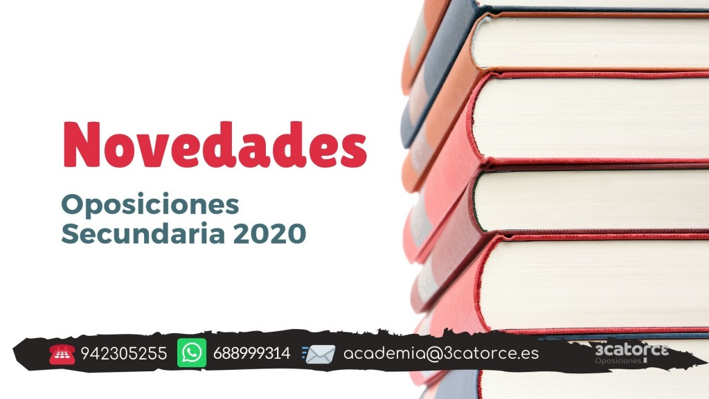 Novedades-oposiciones-secundaria-2020 Novedades oposiciones secundaria 2020