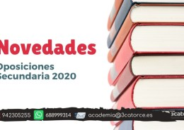 Novedades-oposiciones-secundaria-2020 Correccion errores oposiciones maestros Cantabria 2019