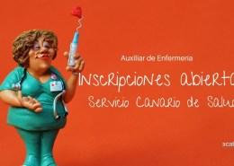 Abierto-plaza-inscripcion-Auxiliar-Enfemeria-Servicio-Canario-Salud Notas examen Auxiliar Administrativo SCS