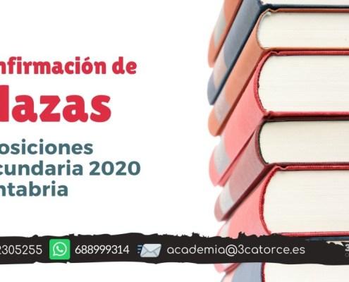 Confirmada la OPE secundaria 2020 Cantabria