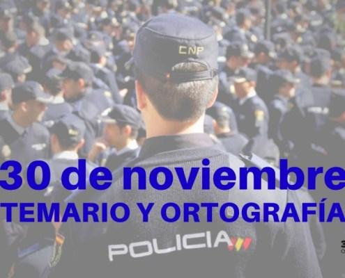 Fecha examen Policia Nacional 2019 conocimientos y ortografia