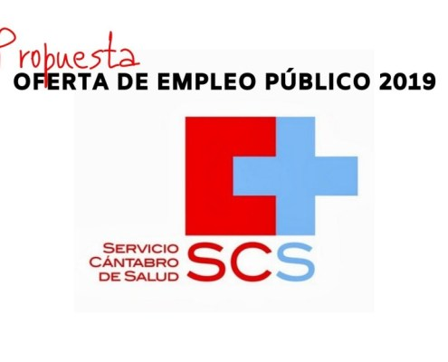 Propuesta plazas oferta empleo SCS 2019