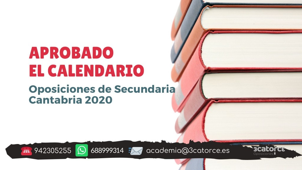 Aprobado-calendario-oposiciones-secundaria-Cantabria-2020 Aprobado calendario oposiciones secundaria Cantabria 2020