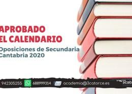 Aprobado-calendario-oposiciones-secundaria-Cantabria-2020 Convocatoria apertura PLICAS infantil Cantabria 2019 y listas aprobados