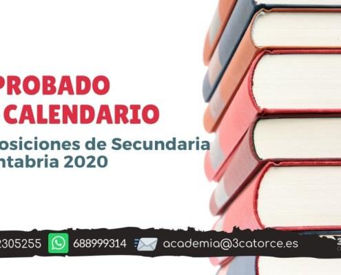 Aprobado calendario oposiciones secundaria Cantabria 2020