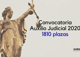 Convocatoria-Auxilio-Judicial-2020 La mayor OPE Justicia de los ultimos 20 años