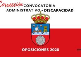 Correcion-Convocatoria-Administrativo-Cantabria-2020 Bolsa Auxiliar Administrativo Comillas 2019