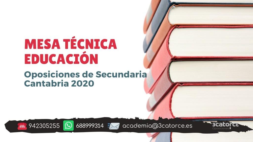 Mesa-tecnica-educacion-oposiciones-secundaria-Cantabria-2020 Mesa tecnica educacion oposiciones secundaria Cantabria 2020