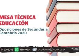 Mesa-tecnica-educacion-oposiciones-secundaria-Cantabria-2020 Informacion novedades oposiciones maestros 2019 Cantabria