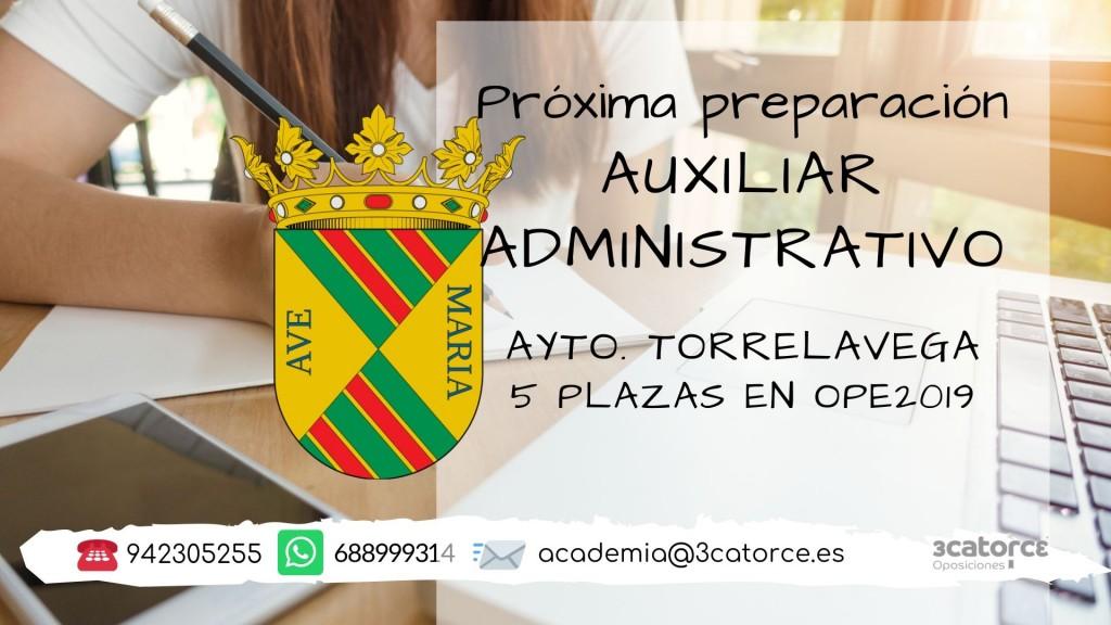 curso-auxiliar-administrativo-torrelavega Oferta Empleo Publico Torrelavega 2019