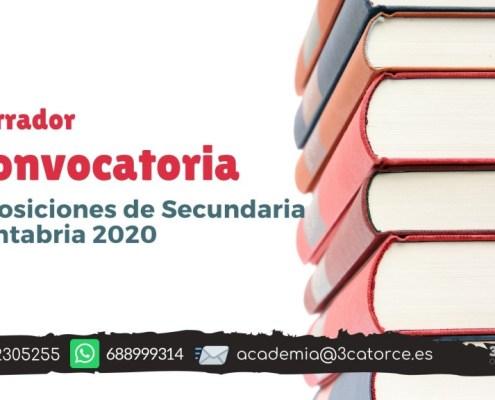 Borrador convocatoria secundaria Cantabria 2020