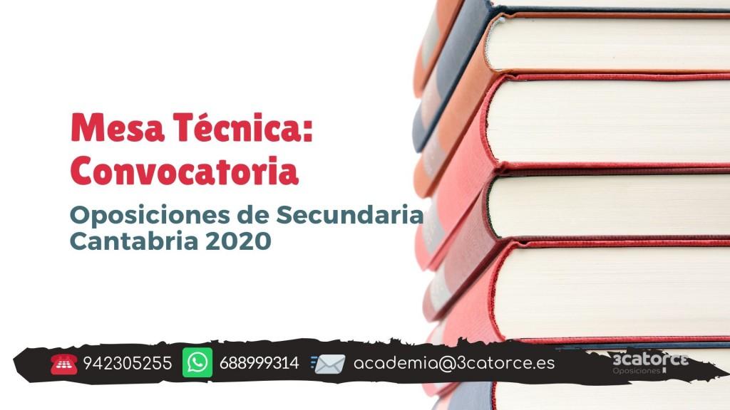 Mesa-tecnica-convocatoria-secundaria-Cantabria-2020 Mesa tecnica convocatoria secundaria Cantabria 2020