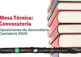 Mesa-tecnica-convocatoria-secundaria-Cantabria-2020 Informacion novedades oposiciones maestros 2019 Cantabria
