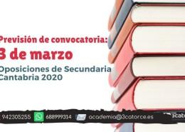 Posible-fecha-convocatoria-secundaria-Cantabria-2020 Oferta Empleo cuerpos docentes 2019 Cantabria
