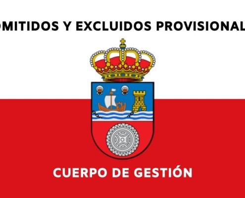 Lista provisional admitidos Gestion Cantabria 2020