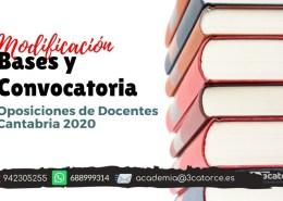 Modificacion-bases-y-convocatoria-docentes-2020-Cantabria Notas primera prueba maestros PT Cantabria 2019