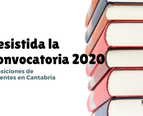 Desistida convocatoria y devolucion tasas oposiciones secundaria Cantabria