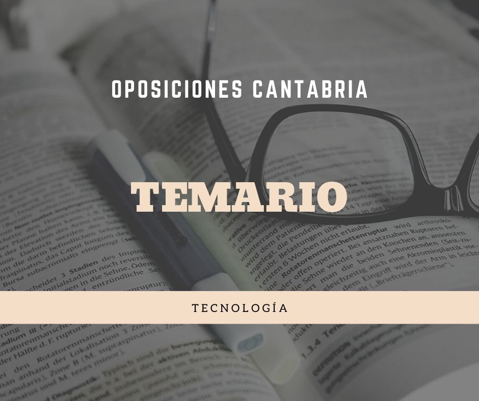 2-4 Temario oposiciones Tecnología Cantabria