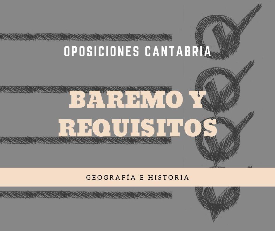 4-1 Baremo y requisitos oposiciones geografia historia