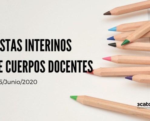 Lista interinos maestros Cantabria y otros cuerpos docentes