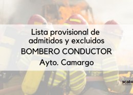 Lista-provisional-Bombero-Conductor-Camargo Admitidos provisionales Auxiliar Administrativo Torrelavega 2019