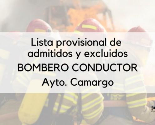 Lista provisional Bombero Conductor Camargo