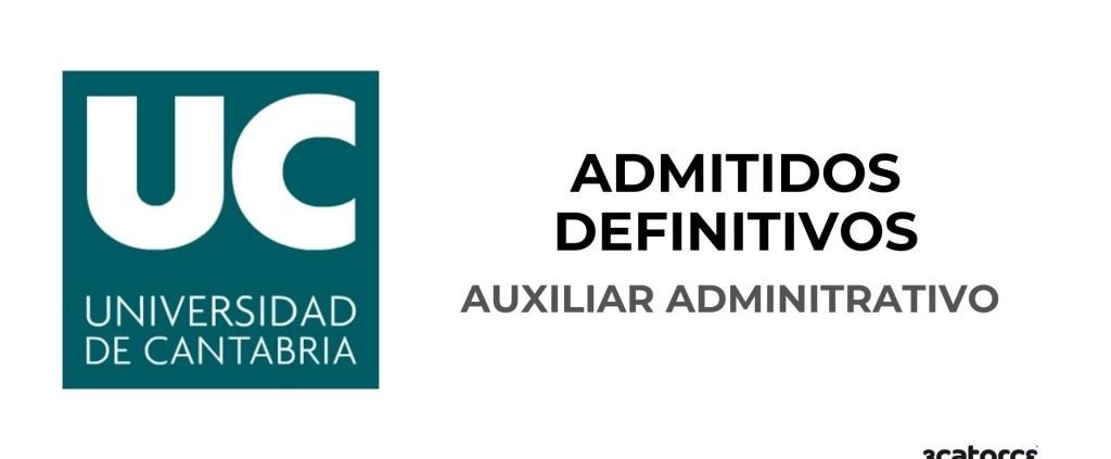 Lista-de-admitidos-definitivos-auxiliar-administrativo-Universidad-de-Cantabria Convocatoria Auxiliar Administrativo Miengo 2020