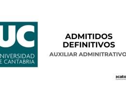Lista-de-admitidos-definitivos-auxiliar-administrativo-Universidad-de-Cantabria Convocatoria para constituir una bolsa de empleo de operario servicios multiples Ruente 2020