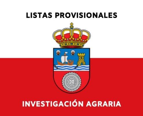 Lista provisional admitidos oposicion Investigacion Agraria Cantabria