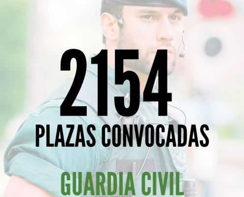 Publicada la convocatoria Guardia Civil 2020 para la Escala de Cabos y Guardias