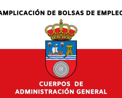 Ampliacion bolsas Adminitracion General Gobierno de Cantabria