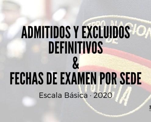 Admitidos definitivos escala basica policia nacional excluidos y fechas de examen por sedes