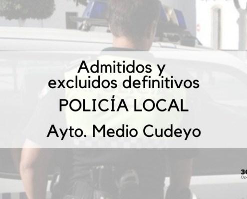 Listado definitivo de admitidos policia local medio cudeyo