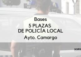 Publicadas-las-bases-para-la-cobertura-de-5-plazas-policia-local-Camargo Abierto plazo solicitudes en Reinosa para Oposicion Policia Local Cantabria