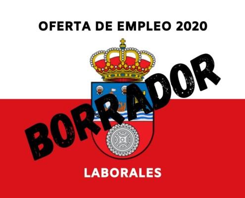 Borrador de la OPE 2020 que recoge la propuesta de plazas personal laboral Cantabria