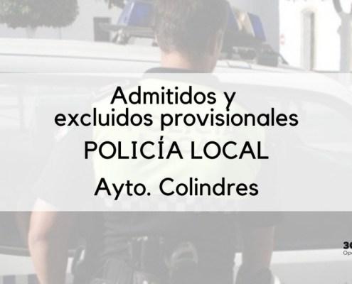 Lista provisional admitidos oposicion policia local Colindres y excluidos
