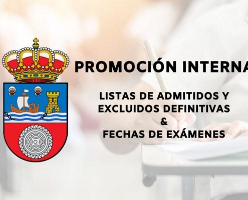 Listas definitivas de admitidos y fecha examenes oposiciones promocion interna Cantabria
