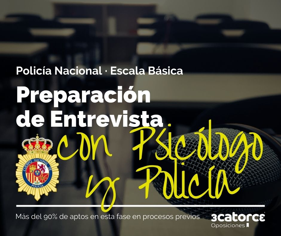 Biodata-entrevista-policia-nacional El 6 de marzo se reanudan las pruebas de la oposicion Escala Basica Policia Nacional