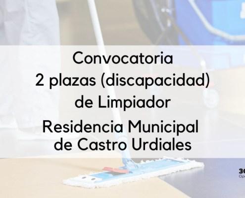 Convocatoria oposicion limpiador Castros