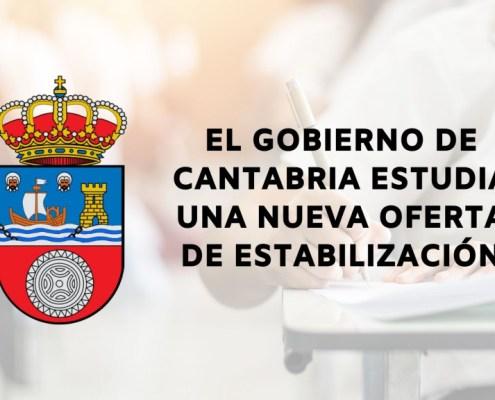 oferta empleo estabilizacion oposiciones Gobierno Cantabria