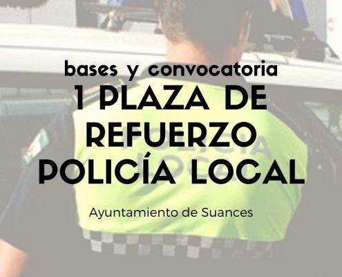 Policia Local Oposiciones una plaza de refuerzo y apoyo Suances