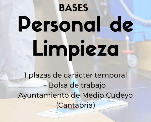 bolsa de trabajo de limpieza Cantabria Medio Cudeyo