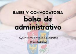 convocatoria-de-bolsa-administrativo-Cantabria-Reinosa Oposiciones Administrativo en la Oferta empleo publico 2017 de Medio Cudeyo Cantabria