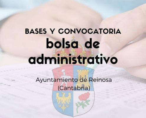 convocatoria de bolsa administrativo Cantabria Reinosa