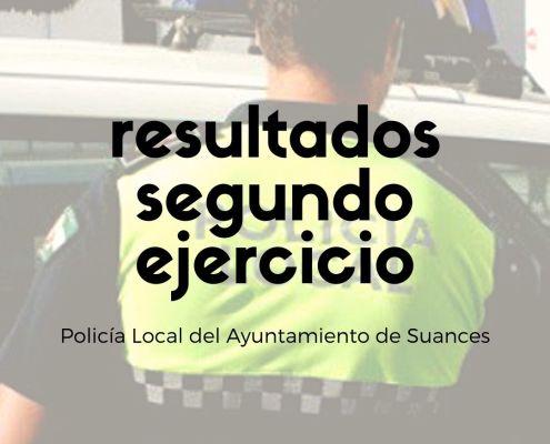 notas segundo examen Policia Local Suances