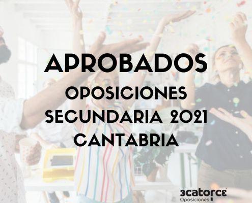 Lista de aprobados con plaza Secundaria Cantabria 2021